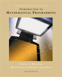 Introduction to Mathematical Programming, by Winston, 4th Edition, Volume 1: Operations Research 4 w/CD 9780534359645