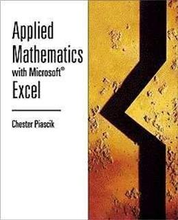 Applied Mathematics with Microsoft Excel 1 9780534370596