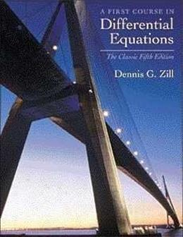 A First Course in Differential Equations: The Classic Fifth Edition (Classic Edition) 5 9780534373887