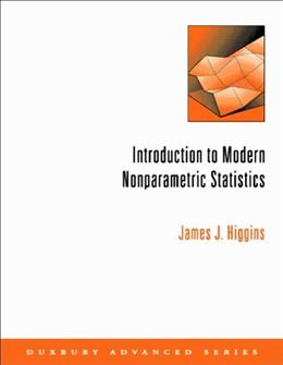 Introduction to Modern Nonparametric Statistics, by Higgins 9780534387754