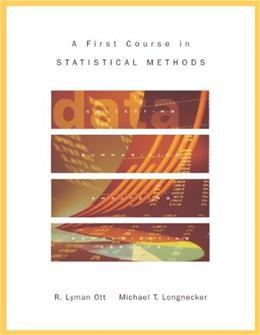1st Course in Statistical Methods, by Ott BK w/CD 9780534408060