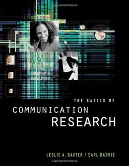 The Basics of Communication Research (with InfoTrac) (Wadsworth Series in Speech Communication) PKG 9780534507787