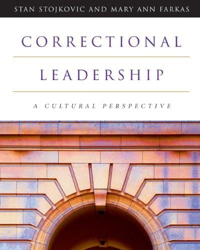 Correctional Leadership: A Cultural Perspective, by Stojkovic 9780534574291