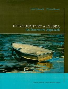 Introductory Algebra: An Interactive Approach for McDaniel College, by Pulsinelli 9780536108531