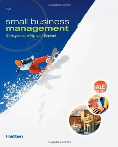 Small Business Management: Entrepreneurship and Beyond 5 9780538453141