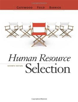 Human Resource Selection 7 9780538469944