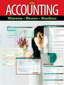 Accounting, by Warren, 24th Edition 9780538475006