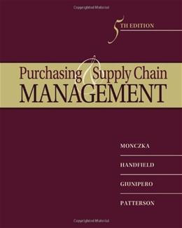 Purchasing and Supply Chain Management 5 9780538476423