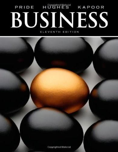 Business, by Pride, 11th Edition 9780538478083