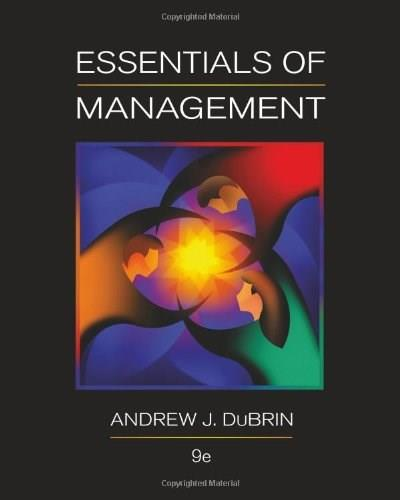 Essentials of Management, 9th Edition 9780538478236