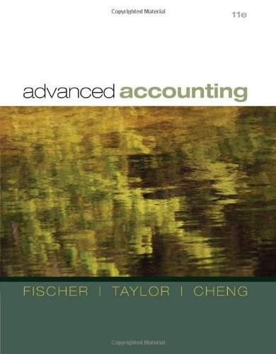 Advanced Accounting, by Fischer, 11th Edition 9780538480284