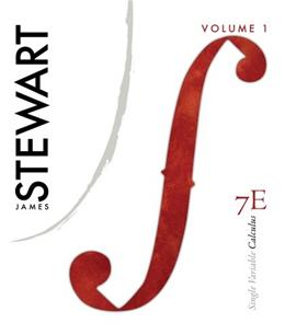 Single Variable Calculus, by Stewart, 7th Edition, Volume 1 9780538497848