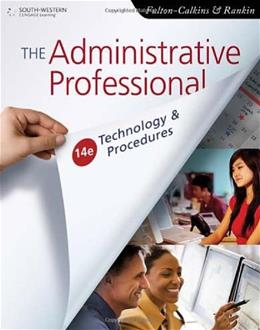 Administrative Professional: Technology & Procedures 14 9780538731041