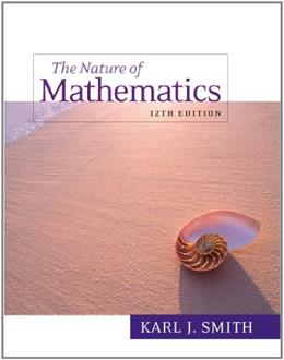 Nature of Mathematics, 12th Edition 9780538737586