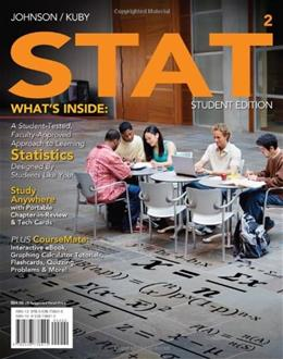 STAT2, by Johnson, 2nd Edition 2 PKG 9780538738415