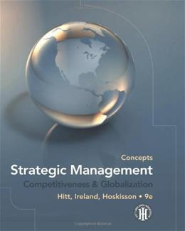 Strategic Management: Competitiveness and Globalization, by Hitt, 9th Edition, Concepts 9780538753098