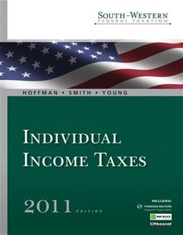 South Western Federal Taxation 2011: Individual Income Taxes, by Hoffman, 34th Edition 34 PKG 9780538786249