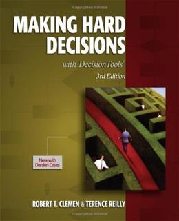Making Hard Decisions with DecisionTools 3 9780538797573