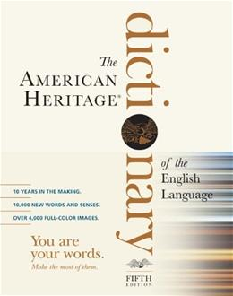 American Heritage Dictionary of the English Language, by Editors of the American Heritage Dictionaries, 5th Edition 9780547041018