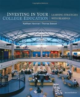 Investing in Your College Education: Learning Strategies with Readings, by Stewart, 2nd Edition 9780547199856
