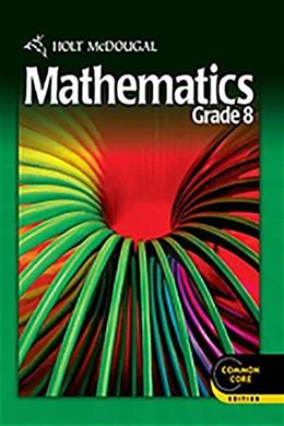 Mathematics, by Bennett, Grade 8 9780547647197