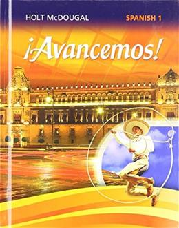 ¡Avancemos!: Student Edition Level 1 2013 (Spanish Edition) 9780547871912