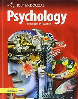 Psychology: Principles in Practice, by Rathus 9780554004013