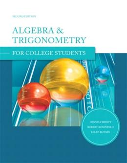 Algebra and Trigonometry, by Christy, 2nd Edition 9780558058036