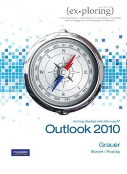 Getting Started with Microsoft Outlook 2010, by Grauer 9780558731359