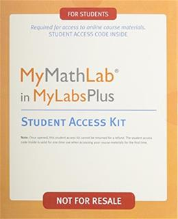 MyMathLab Student Access Kit, by Pearson, ACCESS CODE ONLY PKG 9780558928889