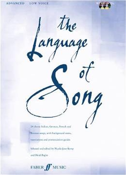 Language of Song, by Pegler, Advanced Low Voice BK w/CD 9780571530779