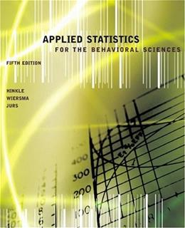 Applied Statistics for the Behavioral Sciences 5 9780618124053