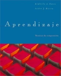 Aprendizaje: A Course in Spanish Composition, by Nance, 2nd Edition 9780618231263
