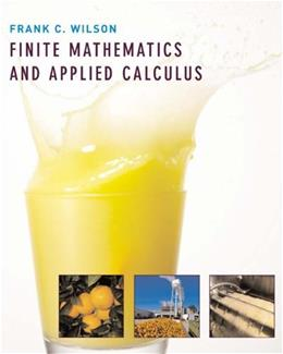 Finite Mathematics and Applied Calculus, by Wilson 9780618332915
