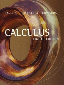 Calculus, by Larson, 8th Edition 9780618502981
