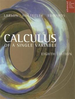 Calculus of a Single Variable, by Larson, 8th AP Edition 9780618503049