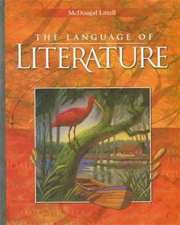 Language of Literature, by McDougal, CALIFORNIA Edition, Grade 9 9780618690176