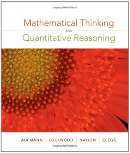 Mathematical Thinking and Quantitative Reasoning, by Aufmann 9780618777372