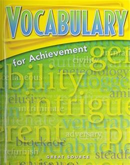 Great Source Vocabulary for Achievement, by Richek, 4th Edition, Grade 8 9780669517569