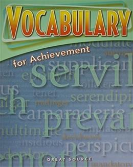 Great Source Vocabulary for Achievement, by Richeck, Grade 11, Workbook 9780669517590