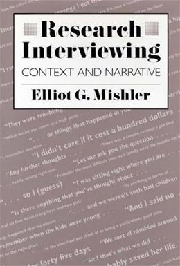 Research Interviewing, by Mishler 9780674764613