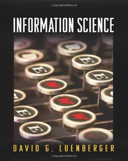 Information Science, by Luenberger 9780691124186