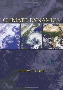 Climate Dynamics, by Cook 9780691125305