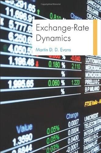 Exchange Rate Dynamics, by Evans 9780691150895