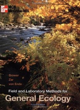 Field and Laboratory Methods for General Ecology, by Brower, 4th Edition 4 w/DISK 9780697243584