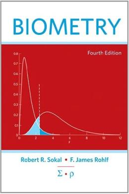 Biometry, by Sokal, 4th Edition 9780716786047