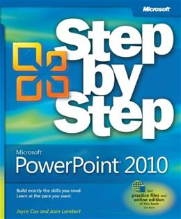 Microsoft PowerPoint 2010 Step by Step, by Cox 9780735626911