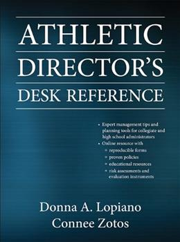 Athletic Directors Desk Reference, by Lopiano PKG 9780736082815