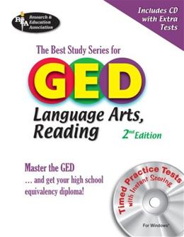 GED Language Arts, Reading w/CD-ROM: -- The Best Test Prep for the GED Language Arts: Reading Section (GED & TABE Test Preparation) 2 PAP/CDR 9780738603391