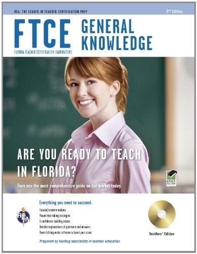 FTCE General Knowledge Book + Online (FTCE Teacher Certification Test Prep) Third Edit 9780738610870
